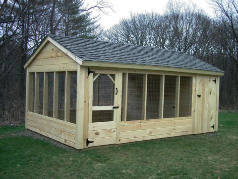 Outdoor Wooden Backyard Pet Kennel Runs