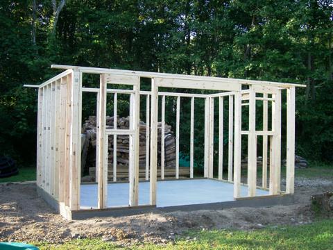Build Storage Shed On Concrete Slab